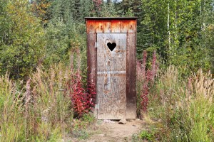Yes, this kind of outhouse.